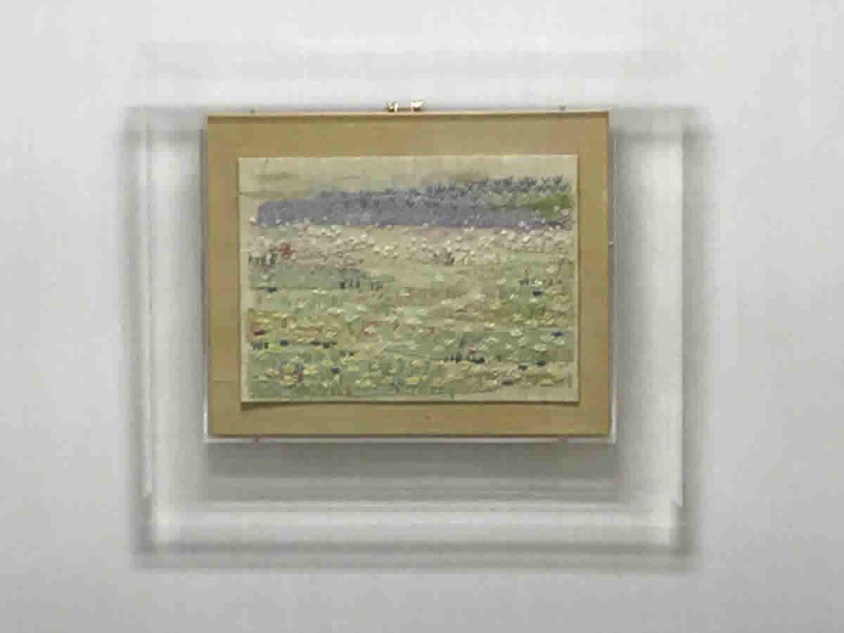 1階左チェア前- 春の景色を布と刺繍で