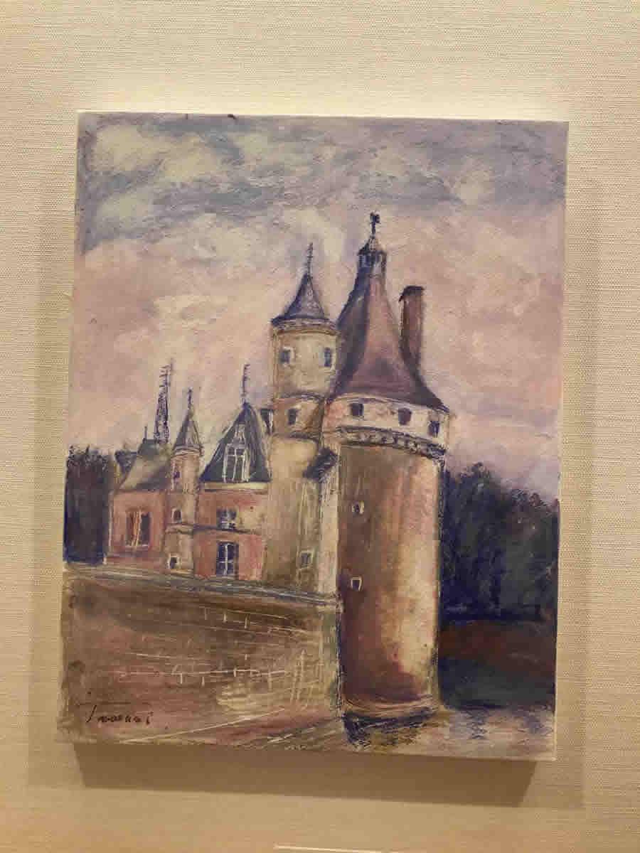2階右チェア前 - フランス ロアールの古城(クレパス画)